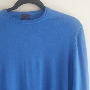 H&M Sweaters - Men's H&M Crewneck Wool Sweater Light Blue